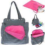 ALESSANDRO Shopper Sporttasche XL WORKOUT BAG Gym Bag 12315  Trinkflasche (Grau (Innen: Pink))