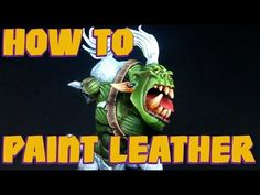 Miniature Painting Tutorial - Realistic Ork Skin for Warhammer 40K - YouTube