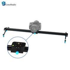 LimoStudio Photography Studio Blue 24 inch Video Stabilization System DSLR Camera Dolly Track Motion Slider, AGG1663