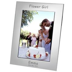 Engraved Flower Girl Silver Plated Photo Frame - from Personalised Gifts Shop - ONLY Engraved Wedding Gifts, Wedding Gifts For Bride And Groom, Mother Of The Groom Gifts, Engraved Gifts, Father Of The Bride, Bride Gifts, On Your Wedding Day, Personalized Photo Frames, Personalised Gifts