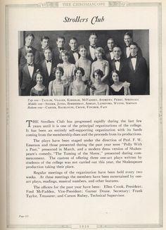 Austin College- 1928 Chromascope- The Strollers Club