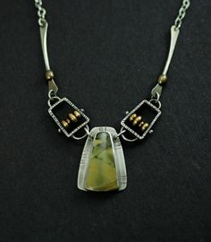 Abacus & Rainforest Jasper necklace - BEAUTIFUL!