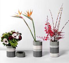 Modern Decor: Concrete Vessels | Modernly Wed