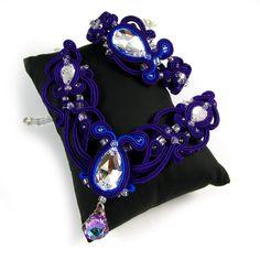 BIŻUTERIA ŚLUBNA SUTASZ PiLLow Design.sutasz, sutaszowa, biżuteria ślubna, soutache, ślubne, kolczyki sutasz, do ślubu, komplet
