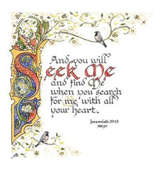 Illuminated Calligraphy Made to Order Commission by angelworx, $315.00
