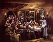 Black Last Supper Poster Print by Beverly Lopez (10 x 8)