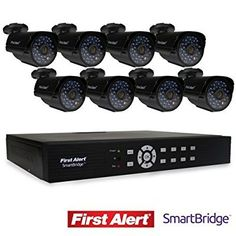 First Alert SmartBridge DVR Video Security System, and 8 Night Vision Cameras by First Alert: Home & Kitchen Video Security System, Best Home Security System, Home Security Tips, Surveillance System, Security Camera, Night Vision, Cameras, Channel, Accessories