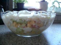 Kukuricku, Ananas a celer nechame okapat. <br>Pak uz delame jen vrstvy do salatove misy take viz. fo...