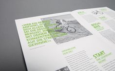 BISCHI BIKE FLYER by simon spring, via Behance | #editorial #layout #typography