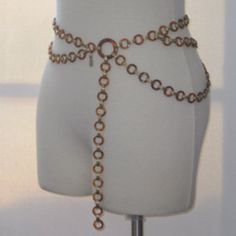 Yves Saint Laurent Vintage Adjustable Belt with Faux Amber and Gold Links