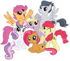 Scootaloo, Rumble, Sweetie Belle, Apple Bloom, Dinky Doo and Babs Seed. My Little Pony List, My Little Pony Pictures, My Little Pony Friendship, Princesa Celestia, Sweetie Belle, Little Poni, Mlp Comics, Some Beautiful Pictures, Imagenes My Little Pony