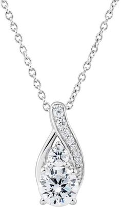 Diamond Scotch Simulated Blue Sapphire Double Halo Cluster Flower Pendant Necklace for Women Girl 18 inch