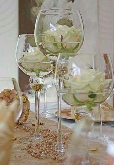 Déco de tables - Romantisme et élégance