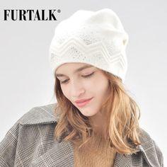 6f456dbe25282 FURTALK winter wool women winter hat rabbit fur hats with double ling  skullies beanie for girls