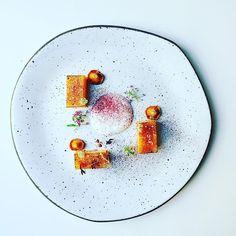 New autumn dish: Pumpkin cooked sous vide with rosemary, girolles sauté and beet powder. #instafood #TheArtOfPlating #foodporn #foodstagram #paris #kitchen #chef #chefstalk #chefsroll #foodphotography #gastroart #foodart #expertfoods #ChefsOfInstagram #ga