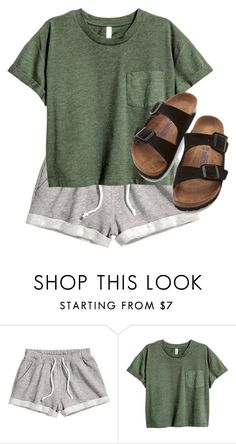 """""""⌦ green without you"""" by shar-fashion ❤ liked on Polyvore featuring H&M and Birkenstock"""