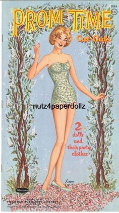 VINTGE 1962 PROM TIME PAPER DOLLS ~GORGEOUS HD LASER REPRODUCTION~ORIG. SZ UNCUT in | eBay