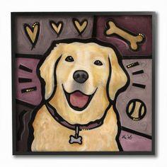 Great Big Canvas 'Golden Retriever Pop Art' by Eric Waugh Graphic Art Print Size: H x W x D, Format: Black Framed Dog Canvas Painting, Artist Painting, Animal Paintings, Painting Frames, Canvas Art, Canvas Prints, Art Prints, Big Canvas, Canvas Size