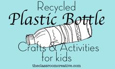 Recycled Plastic Bottle Crafts & Activities for Kids Plastic Milk Bottles, Plastic Bottle Crafts, Plastic Art, Plastic Beads, Recycled Art Projects, Upcycled Crafts, Craft Activities For Kids, Preschool Ideas, Kids Crafts