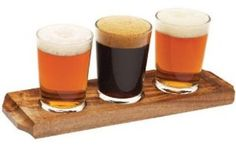 #Wooden beer #tasting tray & 1/3 pint #taster glasses **choose 3 or 6 glasses**, View more on the LINK: http://www.zeppy.io/product/gb/2/111803848140/