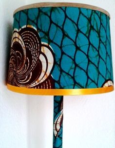 14 best african lampshades images on pinterest lamp shades what an unusual mix of lovely fabrics lampshadesafrican aloadofball Images