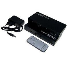 3 poort HDMI switch / schakelaar en versterker FULL HD 3D 1080P met afstandsbediening € 29,95 #HDMI #fullhd #demarktbijuthuis #sale