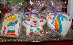 Birthday Party Decorations, Birthday Parties, Iced Sugar Cookies, Under The Rainbow, Gourmet Cookies, Baby Birthday, Birthday Ideas, Rainbow Theme, Rainbow Brite