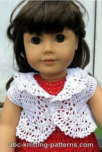 Free crochet pattern. Pattern category: Doll Clothes American Girl Doll. Thread weight yarn. 0-150 yards. Features: In-the-round, Lace, Seamless. Intermediate difficulty level.