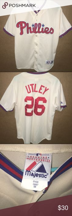 Chase Utley Jersey Men's Philadelphia Phillies Chase Utley Jersey. Mint condition. No flaws. Size Medium. Stitched. Majestic Shirts Tees - Short Sleeve
