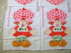 Vintage Strawberry Shortcake Doll Panel 1980 by VintagePlusCrafts, $15.00