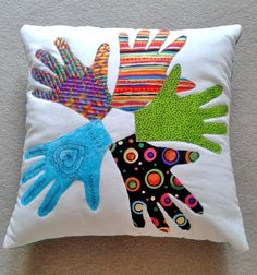 Image result for handprint cushion