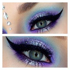 Glitter eye look!!