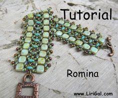 Tutorial Romina SuperDuo and Tila Beadwork Bracelet PDF. via Etsy.