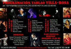 TABLAO VILLA ROSA: FLAMENCO MADRID: FLAMENCO MADRID VILLA-ROSA: ARTISTAS DEL 13 AL 19 ...