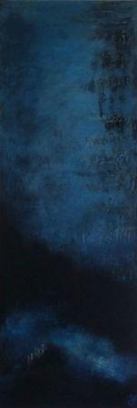 nuages dans la nuit 2010 acryl sur toile 120x40