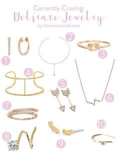 The daintiest jewelry that we're crushing on