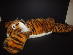 "Natural Wonders Large Plush Striped TIGER Lying Down Flat Animal Pillow 25"" #NaturalWonders"