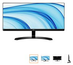 "Monitor LED 29"" Gamer LG Ultrawide Full HD 29UM68 << R$ 123499 >>"
