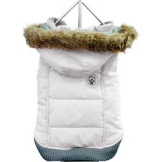 Foufou Dog Foubis Dog Coat White X-small  ♥♥  Available at BuyDogSweaters.com
