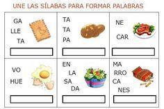 Fichas de lengua: Fichas para formar palabras