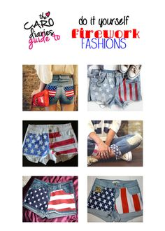 super-easy DIY american flag pants for fourth of july!