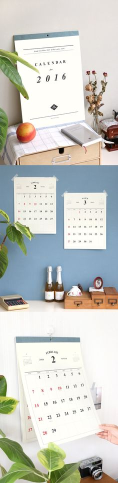 With a simple and elegant design, the 2016 Wall Calendar can be used as a decorative piece or a way to track your upcoming events and important dates. This calendar comes with plenty of space to write, so you never miss a beat. Starting with November 2015, it continues through to December 2016. The perforated line on each sheet makes it easy to tear off as each month passes or simply tear off to display one month at a time. Get creative with how you organize your time!