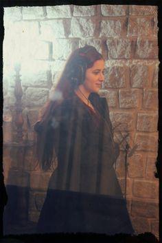 Débora recording some gorgeous vocals! Origo debut album out December 2014