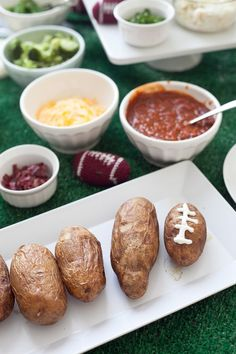 Create a delicious and easy potato bar to satisfy hungry appetites and a range of tastes! Perfect for a night watching the game, or any gathering, since it's so simple and easy to do! Great for a winter meal, football season or anytime.
