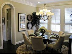 dining room and molding around door way