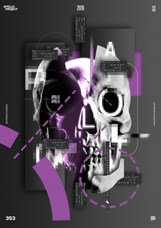 The last poster design of the mini-series Side by Side features the picture of Apollo's Skull, pixelated typography, geometric forms, and lines. Aesthetic Themes, Aesthetic Images, Purple Aesthetic, Aesthetic Grunge, Graphic Design Lessons, Graphic Design Posters, Picsart Tutorial, Overlays Picsart, Purple Themes