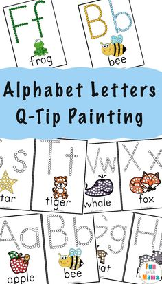 Your E-Organization - Employ An Accountant Or Do It Yourself Free Alphabet Printables Q-Tip Painting Printables That Teaches Fine Motor Skills, Alphabet Letters, Words, And More - Fun With Mama Teaching Letters, Preschool Letters, Free Preschool, Preschool Lessons, Preschool Ideas, Free Alphabet Printables, Alphabet Crafts, Preschool Printables, Alphabet Letters