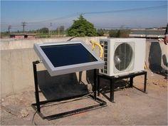 Aer conditionat alimentat 100% cu energie solara Solar Air Conditioner, Drafting Desk, Outdoor Decor, Image, Home Decor, Sage Green House, Renewable Energy, Houses, Solar