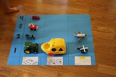 Categorizing - graphing toy vehicles by whether they travel on land, in the water or in the air