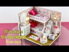 """DIY Miniature Dollhouse Kit With Working Lights """"Dream Angels"""" - YouTube"""